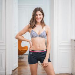 LES ESSENTIELS - La Manon Marine - culotte boxer femme