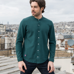 Clothing for him - Le Bertrand fir green - Green shirt