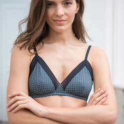 Underwear for Her - La augustine CAVIAR Green - Green bra with pattern