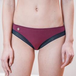 Sous-vêtements Femme - La charlotte prune - Lingerie bas culotte femme