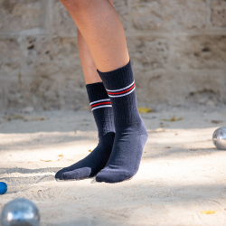 SOCKS - Les andrea Navyblue - Navyblue sports socks