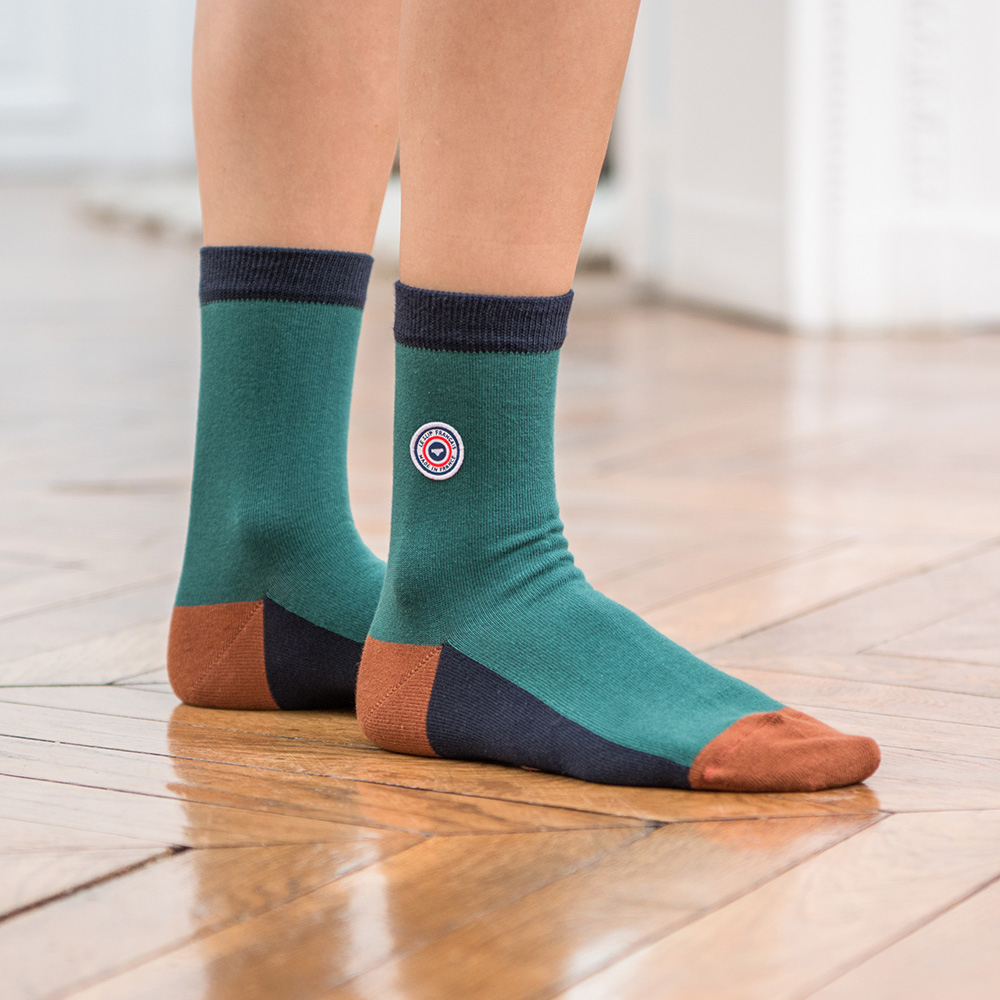 Les lucie sapin marine - Chaussettes