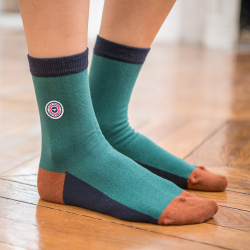 SOCKS - Les lucie fir green/Navyblue - Green socks