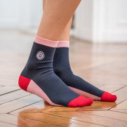 Les lucie Marineblau/Rosa - Marineblaue Socken