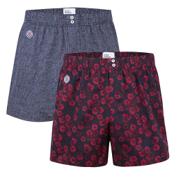 BOXER SHORTS - Le jacques Duo - Duo-pack boxershorts with pattern
