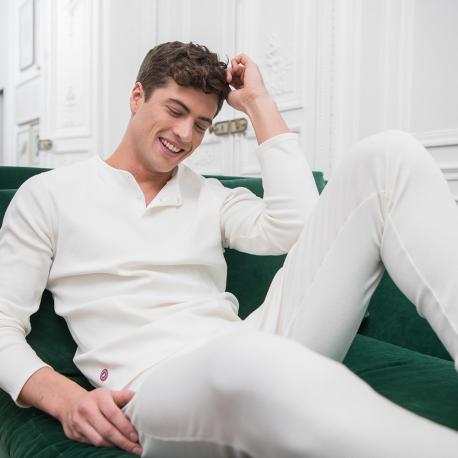 Caleçon long en tricot côtelé