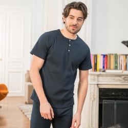 Pyjamas Homme - Le gilbert côtelé marine - Tshirt homme
