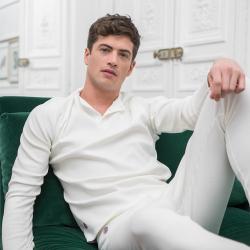 Pyjama shirts - Le philibert ribbed unbleached - Beige ribbed longsleeve
