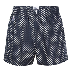 BOXER SHORTS - Le jacques Dots - Navyblue boxershort with dots