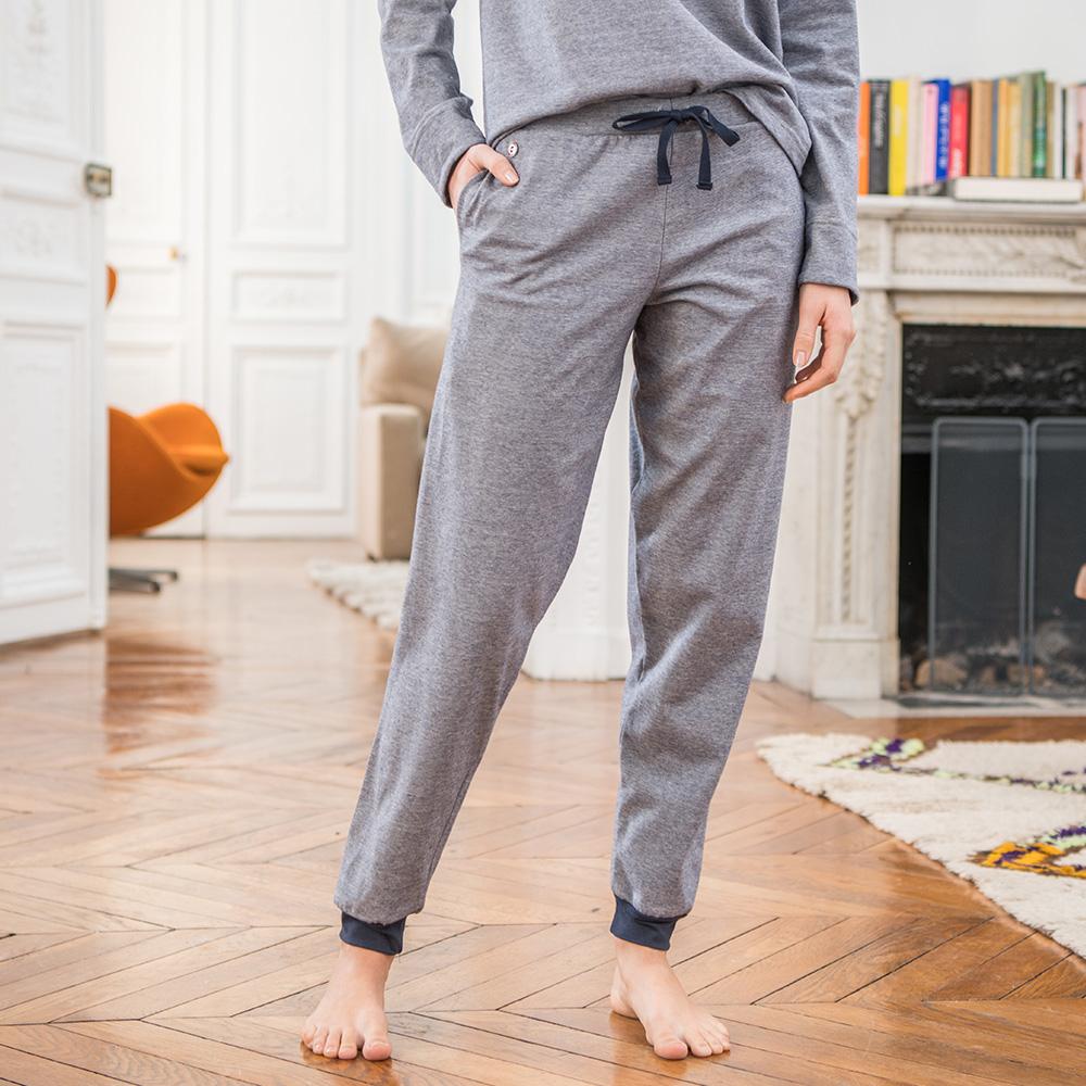 ebcd3733370c1c La Eloise milleraies marine - Bas pyjama femme - S
