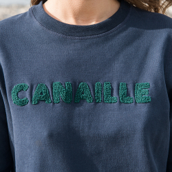 SWEAT-SHIRTS FEMME - La sonia MARINE CANAILLE - Sweat MARINE CANAILLE