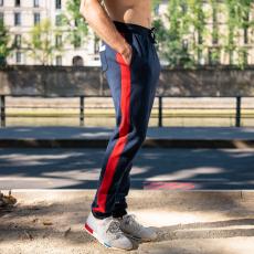 Le sebastien MARINE/ECRU/ROUGE - Jogging MARINE/ECRU/ROUGE