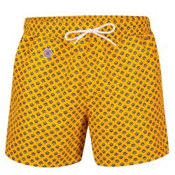 SWIM SHORTS - Le haddock Saffron- Saffron yellow swim short with pattern