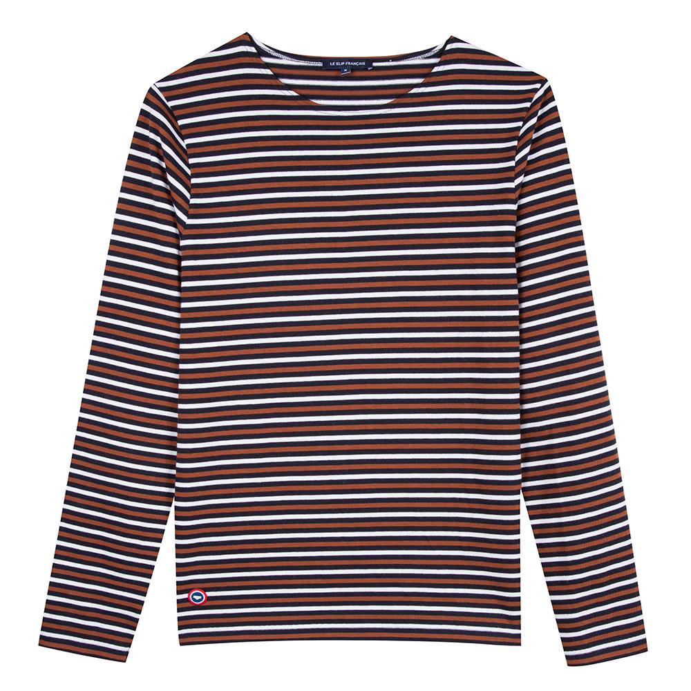Le malo MARINE/RENARD/BLANC - Tshirt MARINE/RENARD/BLANC