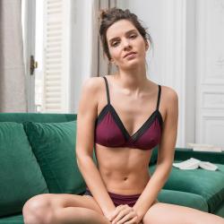 Sous-vêtements Femme - La augustine PRUNE - Lingerie haut PRUNE