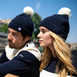 LSF X SAINT JAMES - Le nordica MARINE/ECRU - Bonnet mixte
