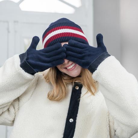 Paire de gants mixtes bicolores