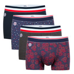 For Him - Le marius quatro - Boxer briefs in navyblue, dotted, anthracite, flower pattern
