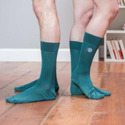 SOCKEN - Les nessy Tannengrün - Grüne merzerisierte Socken