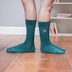 Les nessy Fir green - Green scottish thread socks