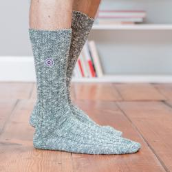 SOCKEN - Les martin Tannengrün - Tannengrüne Socken