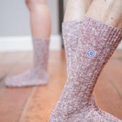 Les martin Pflaume - Pflaumenfarbene Socken