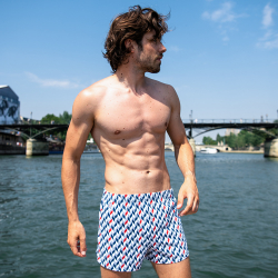 For Him - Le fredo CHEVRON SAINT JAMES - Jersey boxer short LSF x Saint James