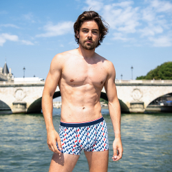 For Him - Le marius CHEVRON SAINT JAMES - Boxer brief LSF x Saint James