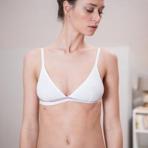 White ribbed bra