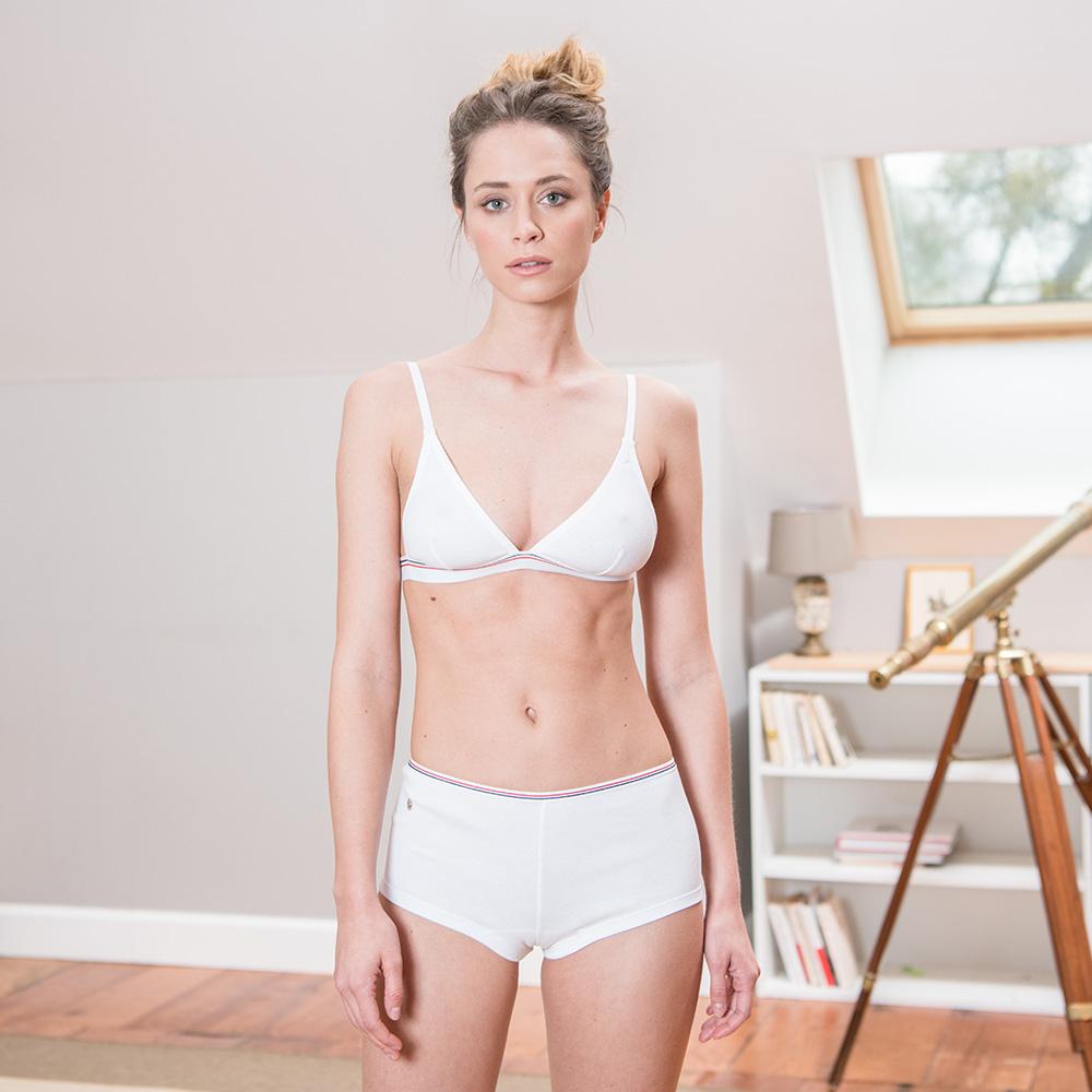 Soutien Gorge Femme Blanc Le Slip Français