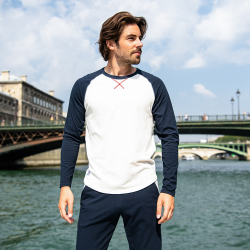 For Him - Le luc Beige Navyblue - Longsleeve LSF x Saint James