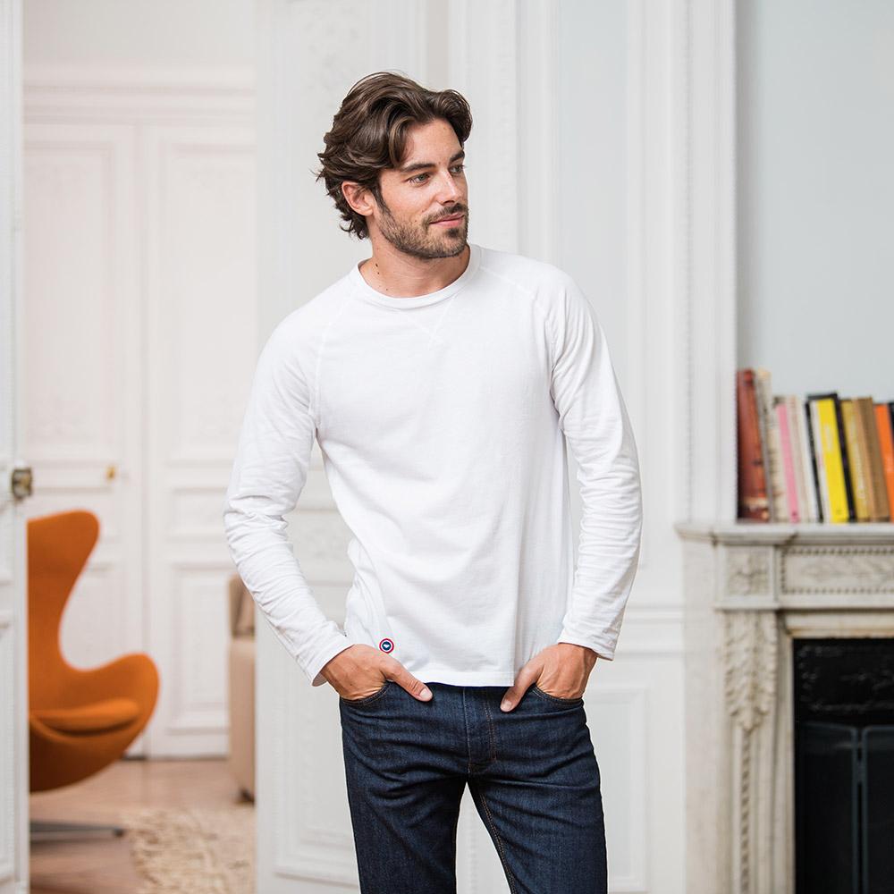 Pyjama Haut Homme Blanc Le Slip Français