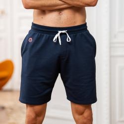 Le Henri - Short molleton bleu marine
