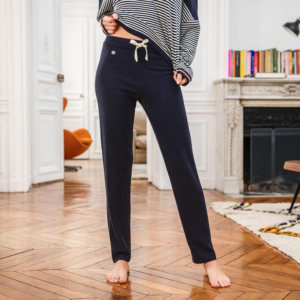 La emilie MARINE - Bas pyjama MARINE