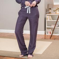 La Judith caviar prune - Pantalon pyjama femme