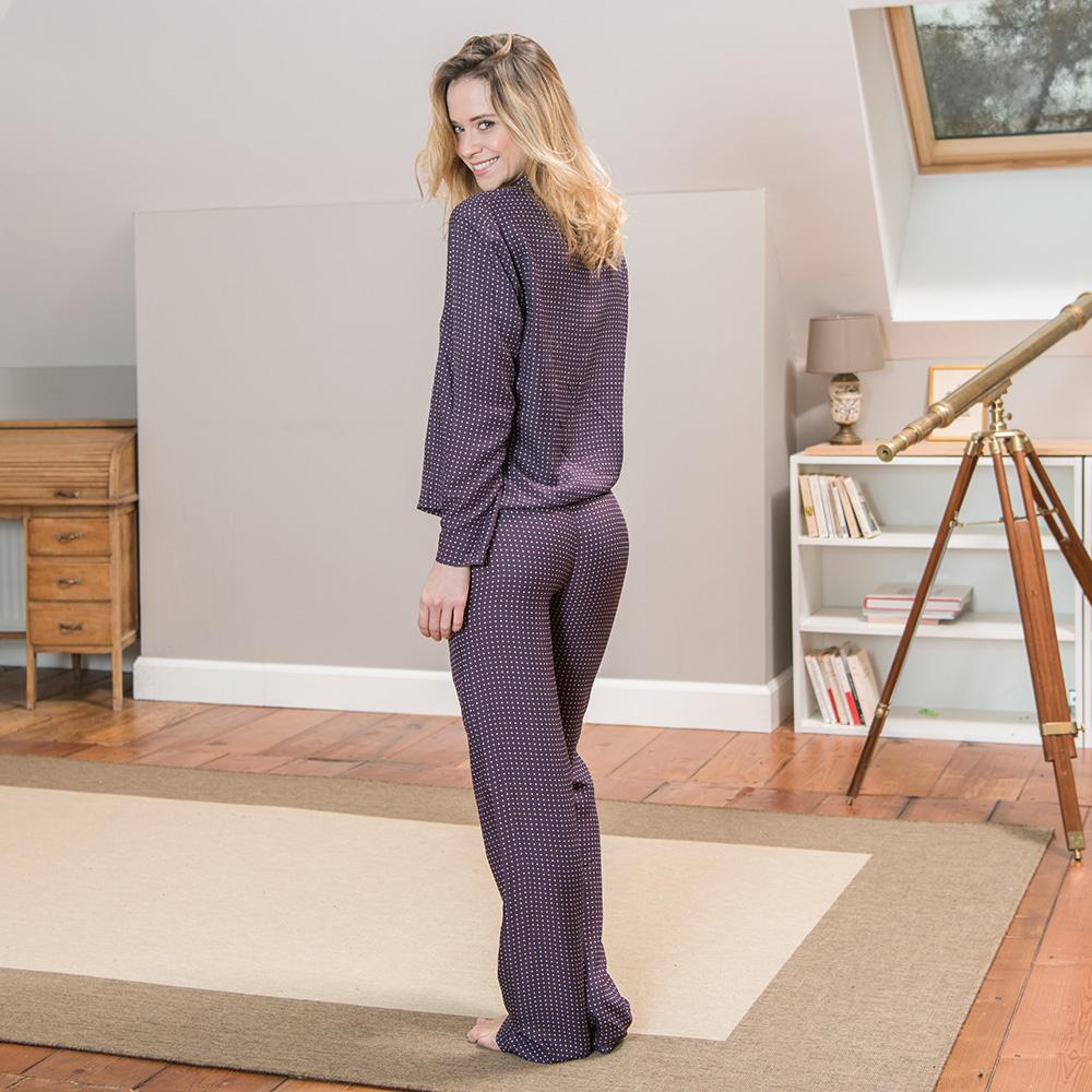 La judith CAVIAR PRUNE - Bas pyjama CAVIAR PRUNE