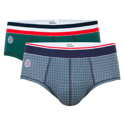 Underwear for Him - Le terrible duo - Briefs in fir green and with pattern
