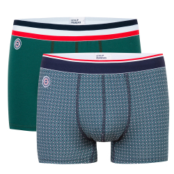 Underwear for Him - Le marius duo - Boxer briefs in green and with pattern
