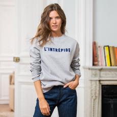 Le barthe INTREPIDE - Grey sweatshirt