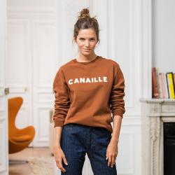 SWEATSHIRTS - Le barthe CANAILLE - Fuchsfarbenes Sweatshirt