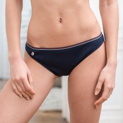 Sous-vêtements Femme - La Suzette marine- Culotte côtelée