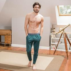 JOGGING - Le chabert Fir green - Fir green jogging pants