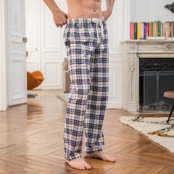 HOME SLIP HOME - Le Charlie tartan prune - Bas de pyjama