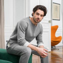 Vêtements Homme - Le malou gris chiné - Tshirt homme
