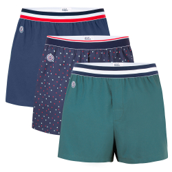 BOXER SHORTS - Le roland trio - Boxershorts in fir green, dotted and navyblue