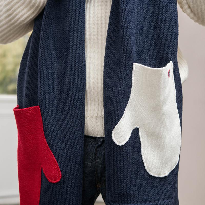 La Faustine marine bleu blanc rouge - écharpe moufle   Le Slip ... f5ecb4df245