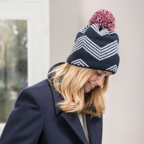 Beanie with pattern