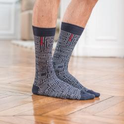 Les lucas LABYRINTH - Gemusterte Socken