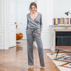 Pyjama shirts - La joanne Grey - Grey jumpsuit