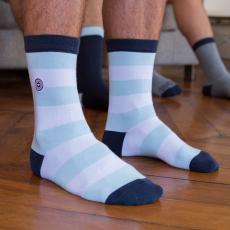 Les lucas hellblau gestreift - Socken LSF X Racing 92